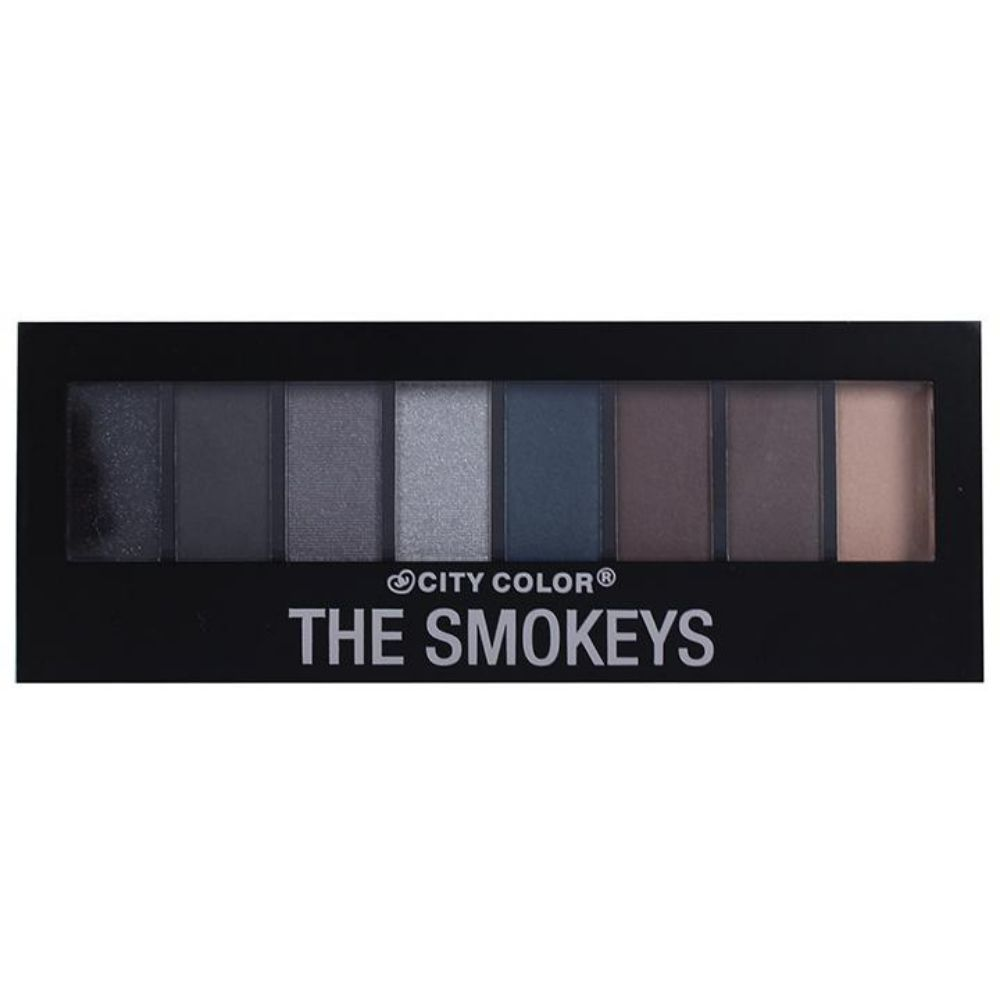 City Color The Smokeys Eyeshadow Palette 8 X 1gr