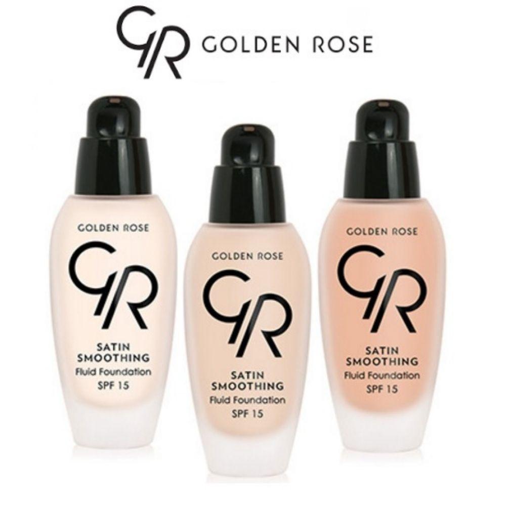 Golden Rose Satin Smoothing Fluid Foundation SPF 15 34 ml