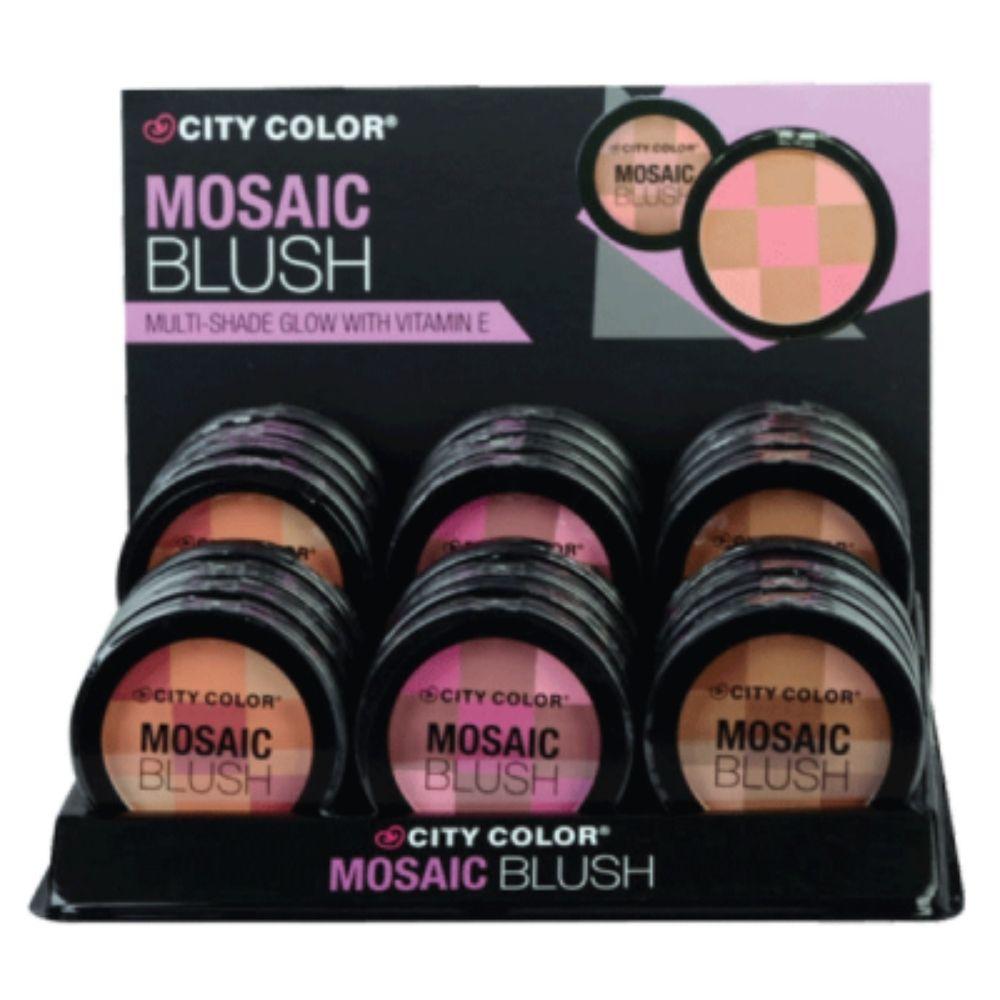 city color mosaic blush