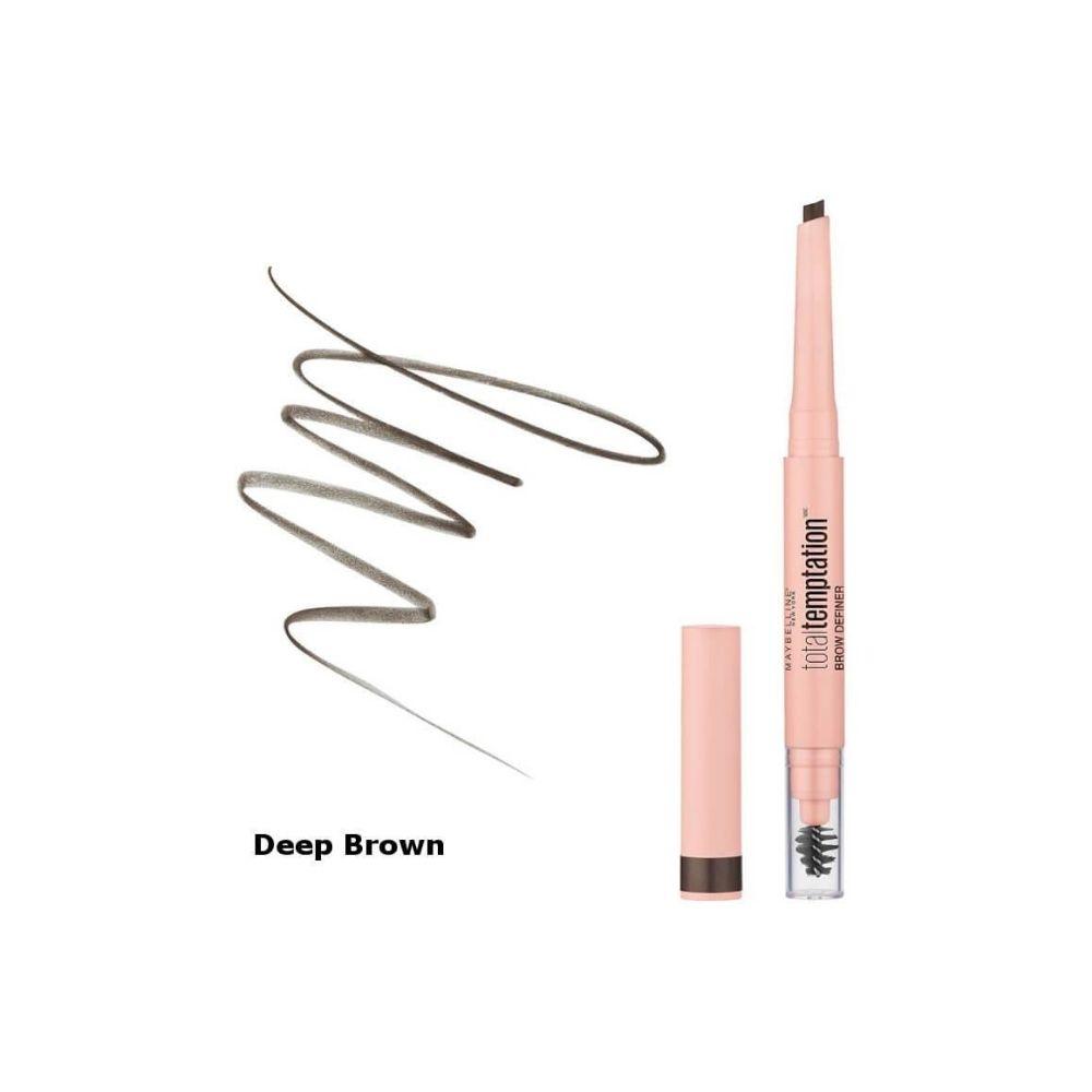 MAYBELLINE-TOTAL-TEMPATION-EYEBROW-DEFINER-PENCIL-deep brown
